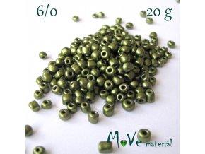 Rokajl perleťový 6/0, 20 g, olivový
