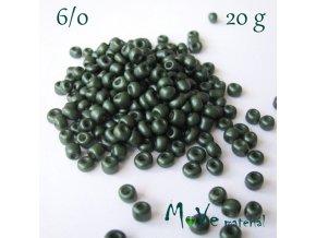 Rokajl perleťový 6/0, 20 g, piniový