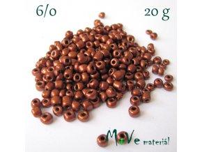 Rokajl perleťový 6/0, 20 g, tm. měděný