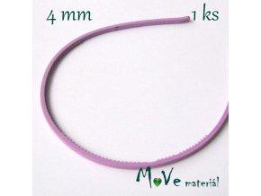 Čelenka jednoduchá plastová fialková