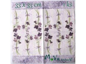 Ubrousek na decoupage 33 x 33cm 1ks, violka