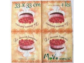 Ubrousek na decoupage 33 x 33cm 1ks, dort