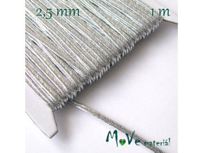 Sutaška š. 2,5mm,1m, stříbrná