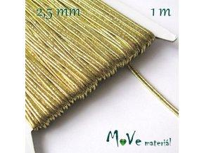 Sutaška š. 2,5mm,1m, zlatá