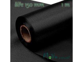 Satén š.15 cm/ 1m, černý