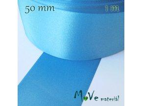 Stuha atlasová jednolící 50mm, 1m, modrá