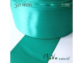 Stuha atlasová jednolící 50mm, 1m, brčálová
