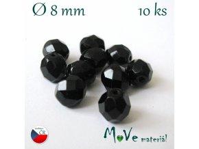 České ohňovky 8mm, 10ks, černé