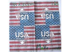 Ubrousek na decoupage 33 x 33cm 1ks, USA