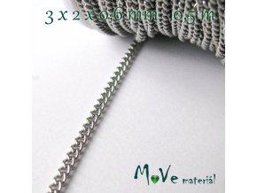 Řetízek nerez ocel tř. 304 - 3x2x0,6mm/0,5m