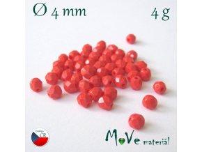 České ohňovky 4mm/4g, oranžovočervené