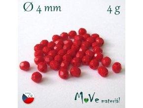 České ohňovky 4mm/4g, červené