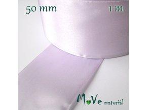 Stuha atlasová jednolící 50mm, 1m, lila