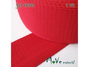 Popruh polypropylénový šíře 50mm, 1m, červený