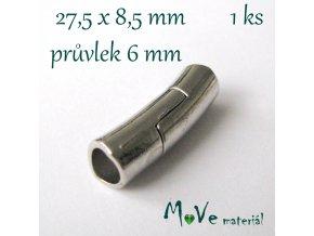 Zapínání magnetické 27,5x8,5mm 1ks, platina