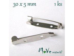 Brožový můstek 30x5mm univerzální, 2kusy, platina