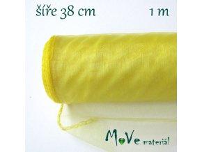 Organza š. 38 cm/ 1m, žlutá