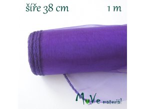 Organza š. 38 cm/ 1m, fialová