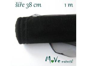 Organza š. 38 cm/ 1m, černá