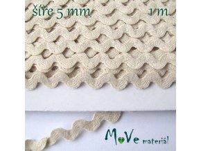 Hadovka 100% bavlna - přírodní 5mm, 1m