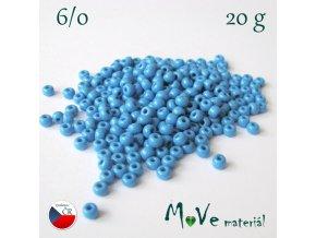 Český rokajl 6/0, 20 g, modrý