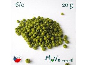 Český rokajl 6/0, 20 g, olivový