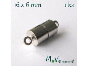 Zapínání magnetické 6x16mm 1ks, platina