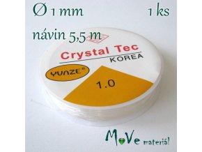 Vlasec silikon elastický 1mm/5,5m průhledný