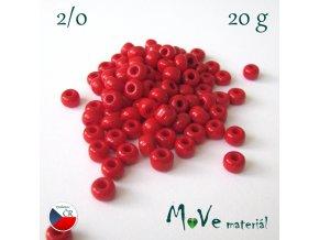 Český rokajl 2/0, 20g, červený