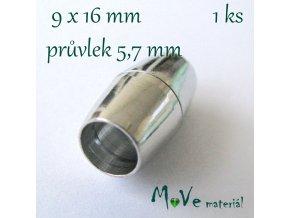 Magnetické zapínání 9x16mm 1ks, platina