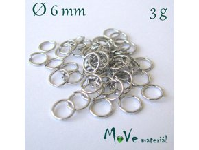 Spojovací kroužek průměr 6mm, 3g