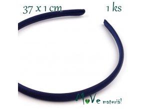 Čelenka jednoduchá potažená modrá/10mm