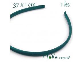 Čelenka jednoduchá potažená smaragdová/10mm