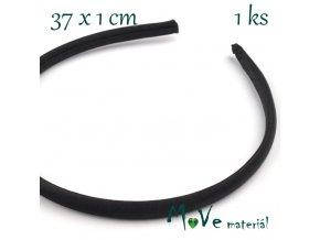 Čelenka jednoduchá potažená černá/10mm