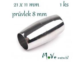 Magnetické zapínání 11x21mm 1ks, platina