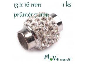 Magnetické zapínání 13x16mm 1ks, platina