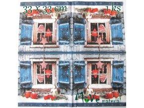 Ubrousek na decoupage 33 x 33cm 1ks, vánoce