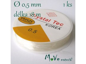 Vlasec silikon elastický 0,5mm/18m průhledný
