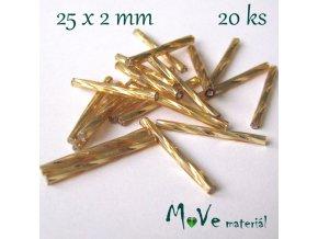 Rokajl 25x2mm, 20ks, tyčky, zlaté