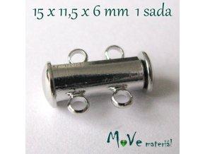 Magnetické zapínání 15x11,5x6mm 1sada, platina