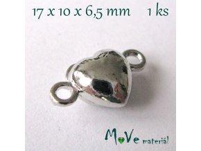 Zapínání magnetické ozdobné 17x10mm 1ks, platina