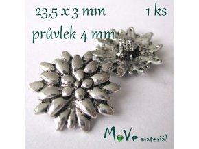 Bižuterní kovový knoflík 23,5x3mm, 1ks