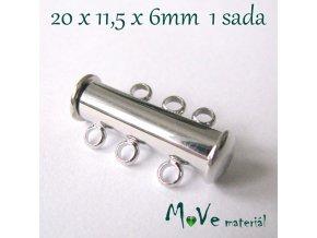 Magnetické zapínání 20,11,5x6mm 1sada, platina