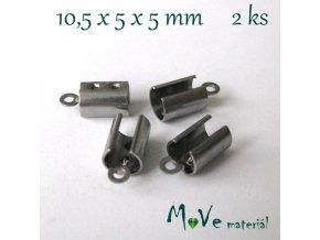 Koncovka - nerez ocel, 10,5x5x5mm, 2ks