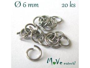 Spojovací kroužek 6mm/20ks, nerez ocel