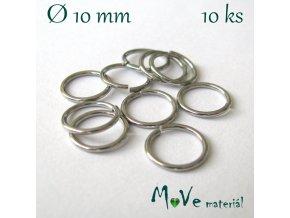 Spojovací kroužek 10mm/10ks, nerez ocel