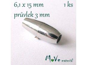 Magnetické zapínání 15x6,1mm 1ks, platina