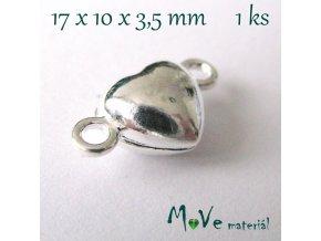 Zapínání magnetické ozdobné 17x10mm 1ks, stříbrná