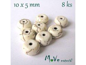 Howlitový disk 10x5mm, 8ks