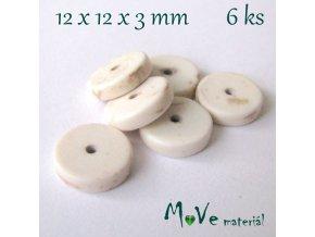 Howlitový disk 12x3mm, 6ks